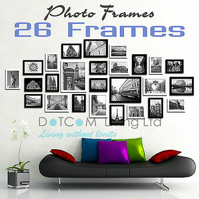 Large Multi Picture Photo Frames Wall Set 13/20/23/26/31PCS Art Deco Home Gift