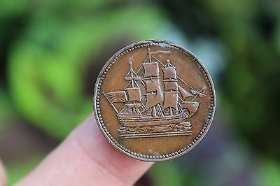 Canadian coin, Ships Colonies & Commerce, Prince Edward Island, EF+, 1835