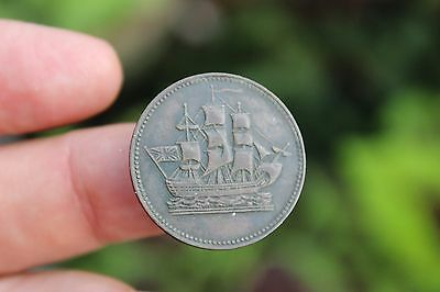 Canadian coin, Ships Colonies & Commerce, Prince Edward Island PE-10CI, EF, 1835