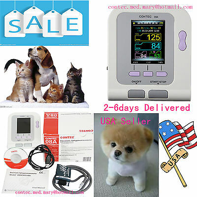 US Sell,CONTEC08A Digital Blood Pressure Monitor for VET Animal use,NIBP+cuff+SW