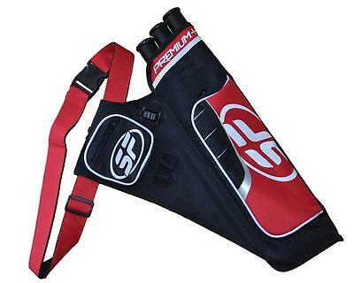 Archery Hip Arrow Quiver Back Shoulder Arrows Bag Holder With Pouch Hunting Red