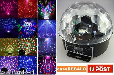 LED Stage Lighting Party Disco Club DJ Ball Light Crystal Magic Ball Effect