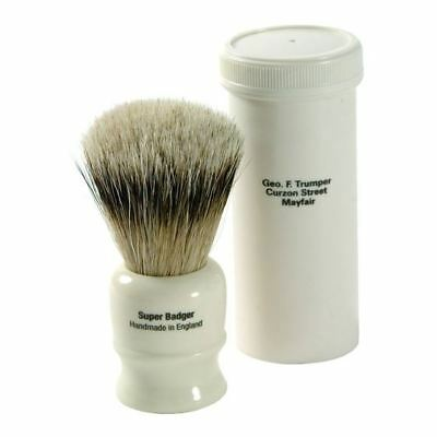 Geo F Trumper Super Badger Travel Shaving Brush with Case