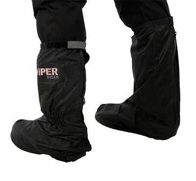 Motorcycle Waterproof Overboots Viper Motorbike Over Boots Black New