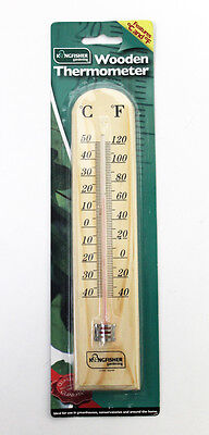 Outfoor Wooden Hanging Thermometer