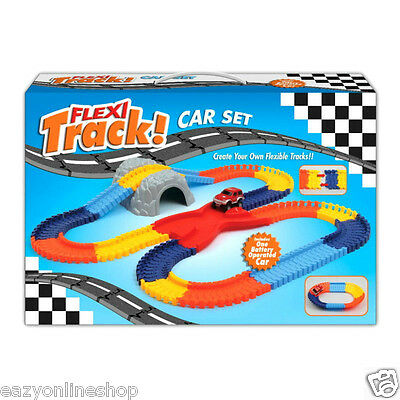 144 Pieces Track Car Set Children Toys Kids Xmas Create your Track B/O Car TY50