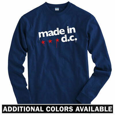 Made In DC Long Sleeve T-shirt LS - Washington Nationals Wizards  - Men / Youth