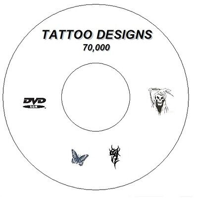 70,000 + Flash Designs & Tattoo Books Tribal,japanese,demons, Butterfly Cd/dvd