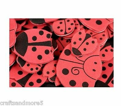 50 Foam Ladybug Stickers ~ Various Sizes ~ 15mm-40mm ~ Great For Scrapbooking