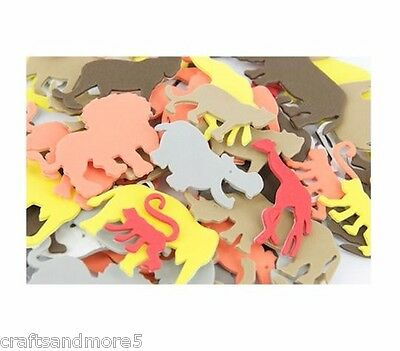20 Foam Jungle Animal Stickers ~ Various Sizes ~ Great For Scrapbooking