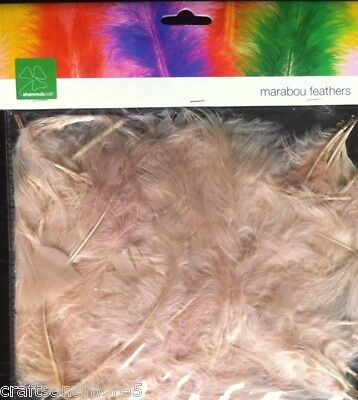 10 Grams Eggshell / Light Beige Marabou Feathers ~ Great for Crafts