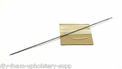 "Buttoning Needle & Buttoning twine. 10"", 12"" or 14"" upholstery needle"