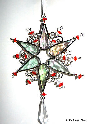 Stained Glass Snowflake Sun Catcher