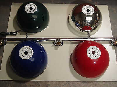 Pool/snooker Chrome Rail Light With Various Metal Bowl Colour