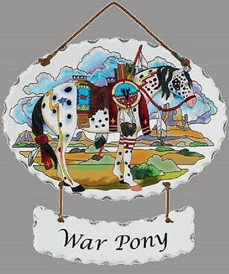 Trail Painted Ponies War Pony Horse Joan Baker Designs Glass Suncatcher