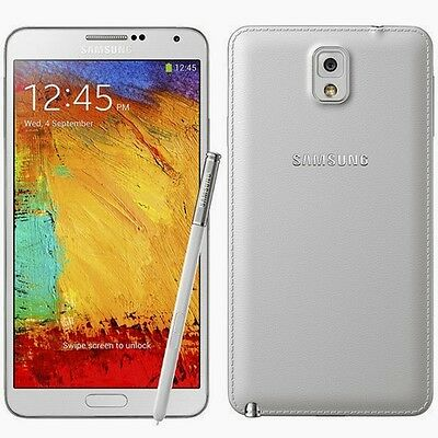 New Samsung Galaxy Note Iii 3 Sm-N900A 32Gb At&t Unlocked White Smartphone