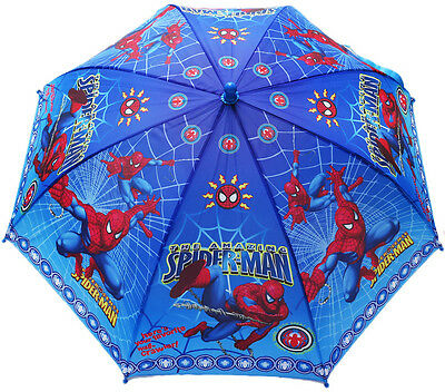 NEW KIDS 77cm UMBRELLA DISNEY RED SPIDERMAN BLUE BOYS GIRLS TOYS ACCESSORIES