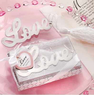 "1x Exquisite Letter ""Love"" Alloy Bookmark With Ribbon Box As Gift"
