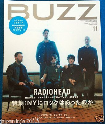 BUZZ Japan Music Magazine 11/2001 #29 Radiohead Chemical Brothers Strokes