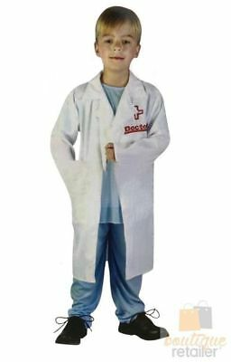 KIDS DOCTOR COSTUME Fancy Dress Halloween Surgeon Children's Party Dr Outfit New