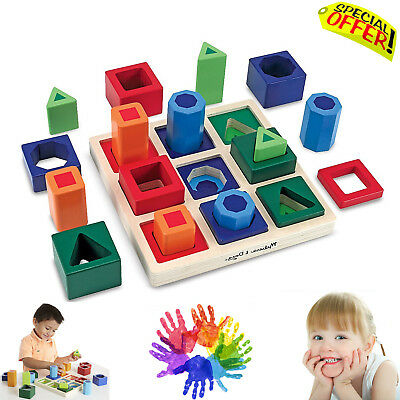Autism Sensory Educational Puzzle Toys Special Needs Creative Sorting Shape Set