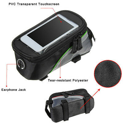 Cycling Bike Bicycle Frame iPhone Holder Pannier Mobile Phone Case Bag Pouch E5