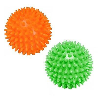 2 Pack More Mile Spikey Massage Balls Stress Reflexology Tension Therapy 7cm 9cm