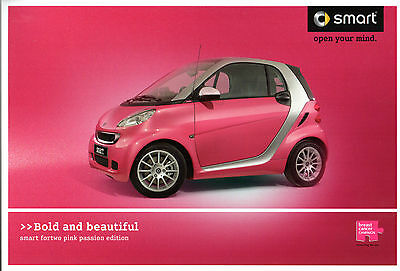 Smart ForTwo Pink Passion Limited Edition 2010 UK Market Sales Brochure