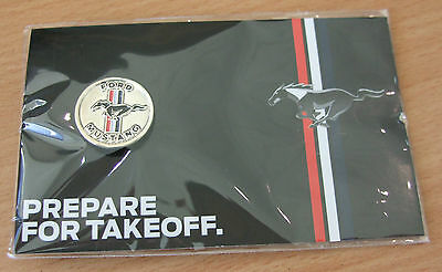 Genuine Ford Mustang Official Uk Launch Badge Lapel Pin Bright Silver 35021240