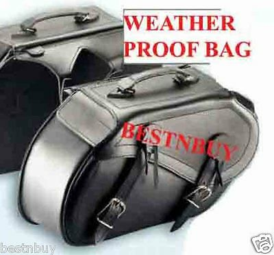"SADDLE BAG "" Harley Style Leather Motorcycle BAG New UNIVERSAL FIT ""NEW"""