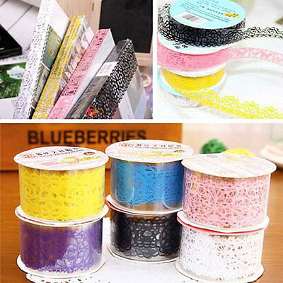 Lace Hollow Adhesive Masking Washi Tape Paper Sticker DIY Stickers Gift