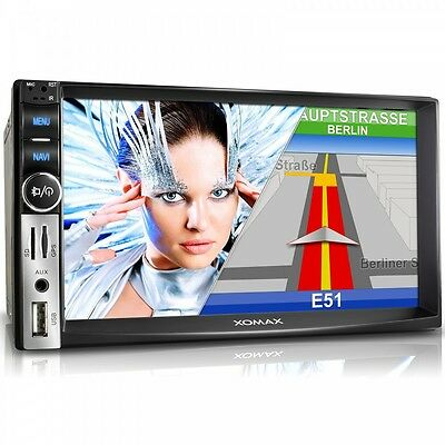 Autoradio Navigador Gps Pantalla Tactíl Bluetooth Sd Usb Mp3 2Din Radio De Coche