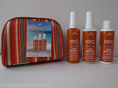 SCHWARZKOPF LOT SUN PROTECT+TROUSSE Travel Kit Protection Solaire Soleil