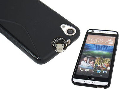 Black Soft S Line Gel TPU Silicone Case Cover Skin For HTC Desire 626 626S 626G+