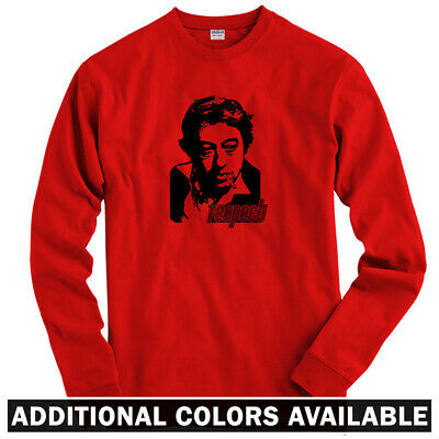 Respect Long Sleeve T-shirt LS - French Music Gainsbourg Serge Face  Men / Youth