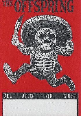 ORIGINAL CLOTH TOUR BACKSTAGE PASS UNUSED: The Offspring Red Square
