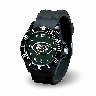 New York Jets NFL Football Team Men's Black Sparo Spirit Watch