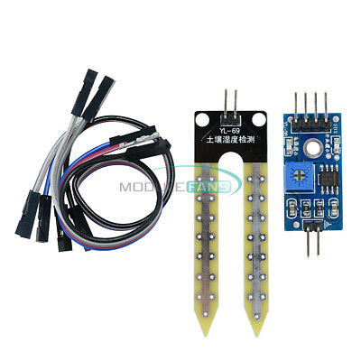 2PCS Soil Hygrometer Moisture Water Sensor Detection Module for Arduino