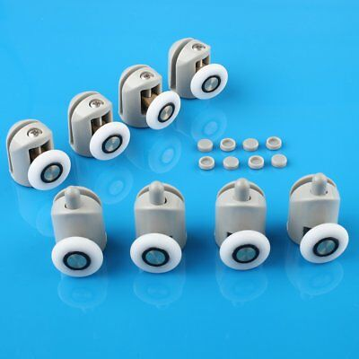8 Pcs Single Shower Door Enclosures Rollers Runners Wheels Pulleys 25mm Dia
