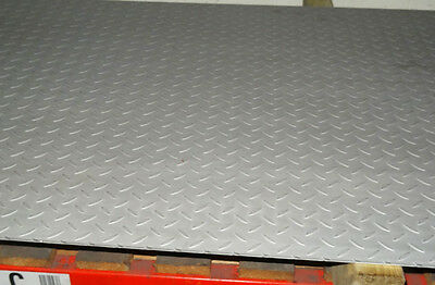3mm Stainless Steel TREAD Plate Floor Checker custom cut to size for free Durbar