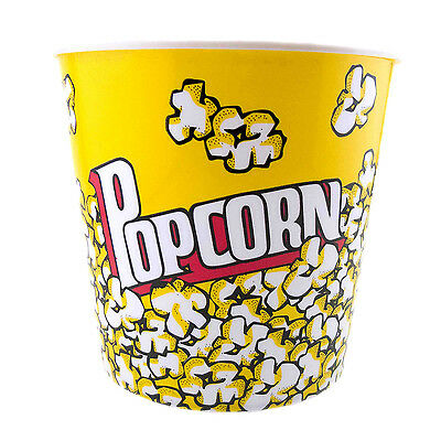 Large Reusable Plastic Popcorn Tub Container S Super Bowl Round Square