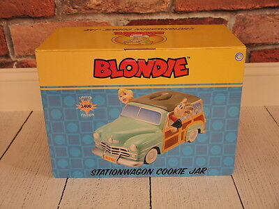 BLONDIE STATION WAGON COOKIE JAR Dagwood, Limited Edition, Very Rare, New