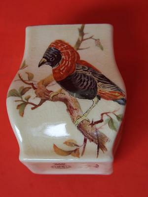 Royal Doulton Miniature Vase with Birds & Flowers .1930's