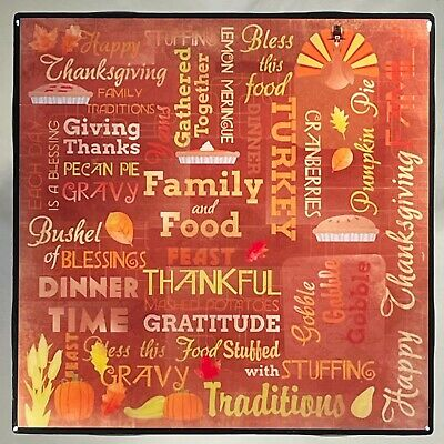 THANKSGIVING Ceramic Tile Coaster Turkey
