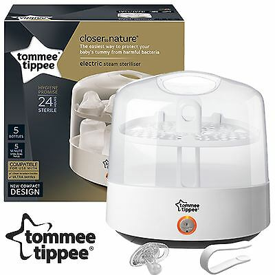 Tommee Tippee Closer to Nature Electric Baby Bottle Compact Steam Steriliser Set