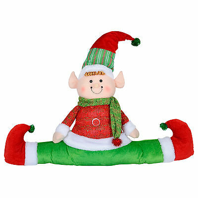 Elf Christmas Decoration - Draught Draft Excluder Door Window Decoration - 65cm