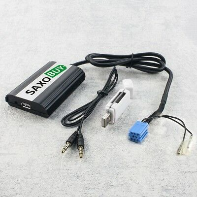 USB SD SDHC MP3 AUX In CD Wechsler Adapter Radio Renault Scenic II 2 2003-08