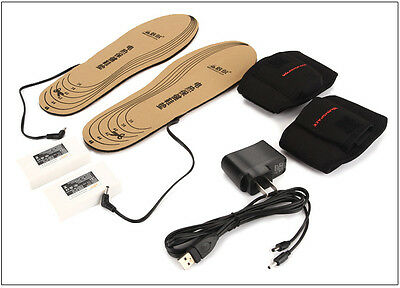 WARMSPACE Shoe Pad 3.7V Rechargeable Electric Heated Insoles Foot Warmer