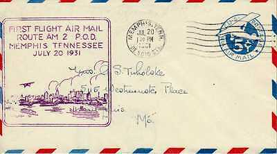 Etats Unis USA 1ers vols first flights airmail 262