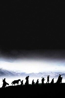 """THE LORD OF THE RINGS Movie Poster RARE ART Gandalf Silk Wall Vintage 24X32"""""""